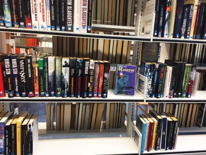 Bibliotekshylla gallrad