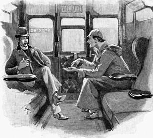 Engraving of Sherlock Holmes and Watson