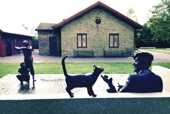 Piraten skulpturgrupp Vollsjö